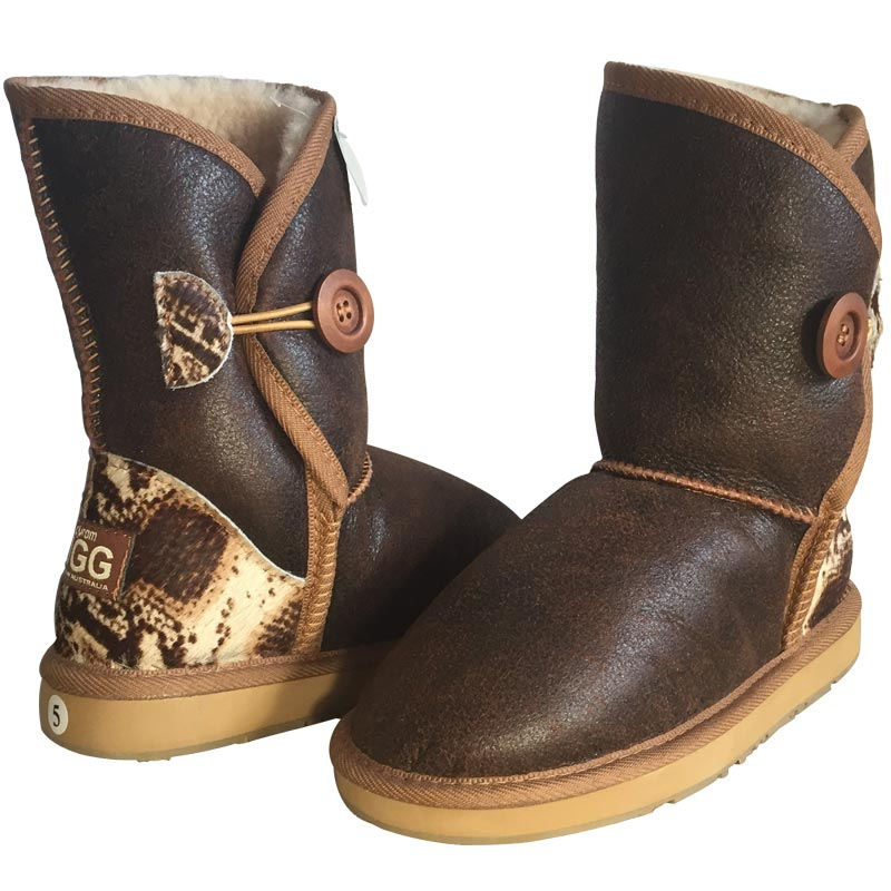 8cf5021aa3a Mulga Mid Nappa with Animal Print Ugg Boots